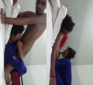 collage girl with bf in hotel