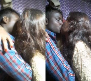 romance of couple hot kiss